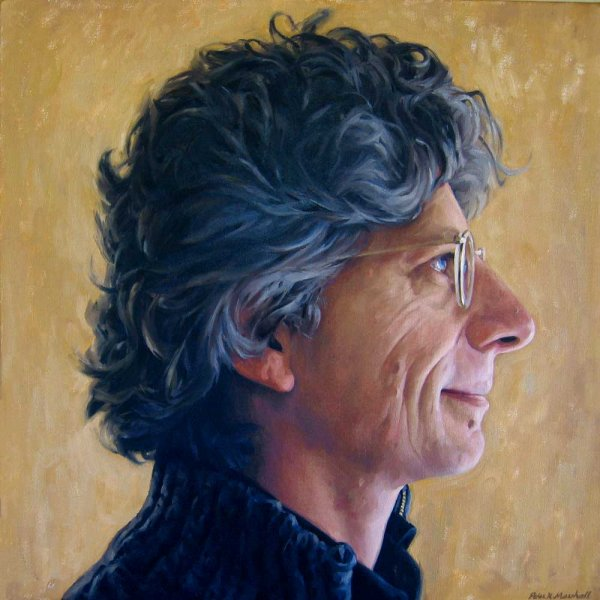 Profile portrait of Phil Somerville - oil on linen canvas 76x76 cm 2008-9