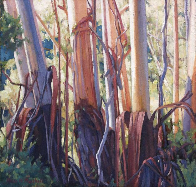 A Sunlit Glen - oil on canvas 30x30cm 2015
