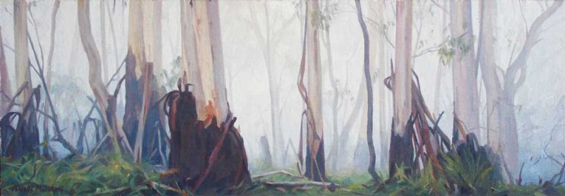 Autumn Morning - oil on canvas 19x54cm 2015