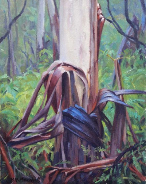 Mountain Ash Sapling - oil on canvas 25.5x20.5cm 2015