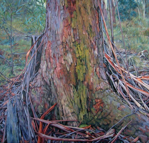 Tree - Popes Glen - oil on linen canvas 106x112 cm 2011