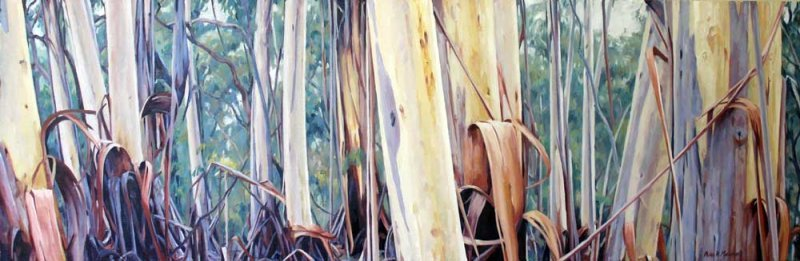 Treescape - oil on canvas 35-5x108cm-2013