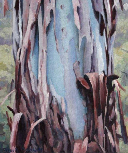 Study for 'TreexChange I' oil on sealed paper 18x15cm
