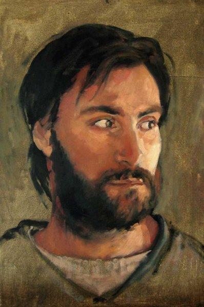 Portrait study of Max - oil on canvas 26x36 cm 1998