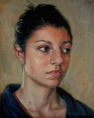 A portrait study of Laura -  oil on canvas 2011