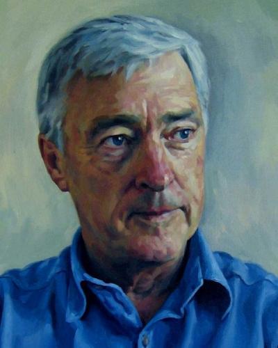 DETAIL - Peter Andren MP - oil on linen canvas 2007