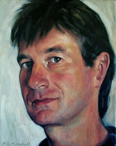 Self Portrait 2007-8 - oil on canvas 20x25.4 cm