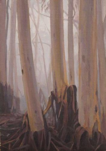Rising Mists - oil on canvas 24x17cm 2015