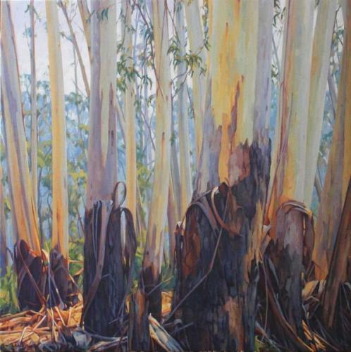 Sancuary - oil on canvas 112x112cm 2014