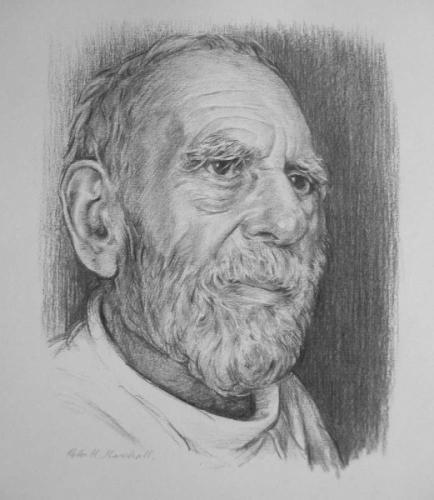 Geoff - a portrait study - charcoal on paper 20x26 cm 2009