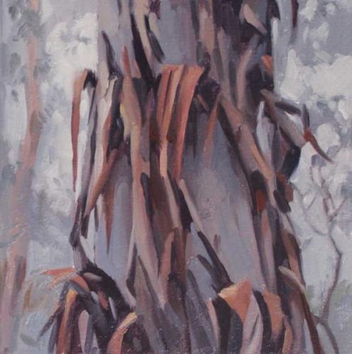 Tree study Jan 2017 oil on sealed paper 15x15cm