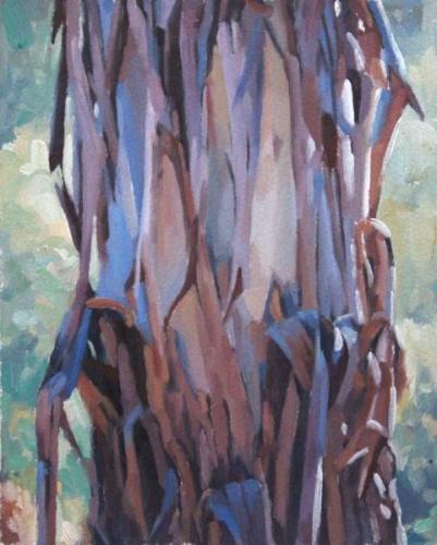 Study for 'TreexChange X' oil on sealed paper 22x17.5cm