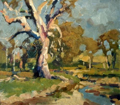 Landscape study - oil on board 21x24 cm 1990