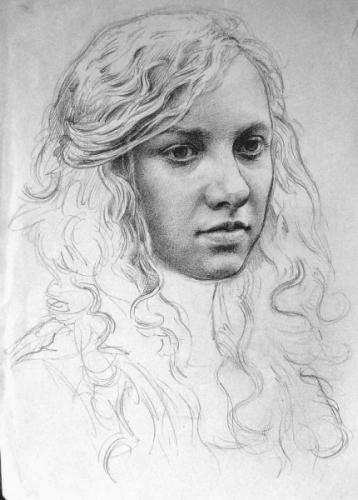 Portrait study of Correa - 2b pencil on paper 21x30 cm 2010