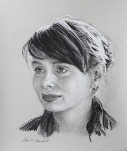 A Portrait Study - Meaghan - Willow charcoal and conte on toned paper 29x24cm 2015