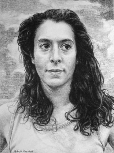 Claudia - willow charcoal on Fabriano paper  33x44.5 cm 2010