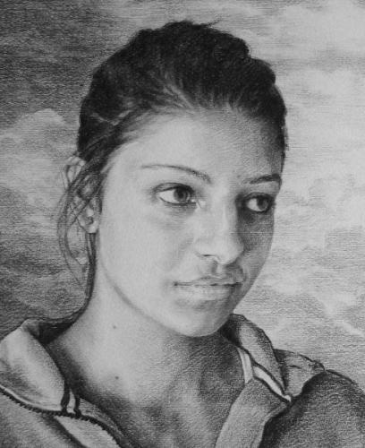 Laura - willow charcoal on Fabriano paper - detail 28x34 cm 2011