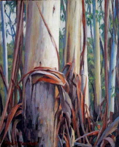 Forest Trees - oil on canvas 25.5x20cm 2013