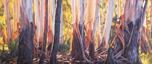 Sunlight - oil on canvas 21.5x50cm 2015