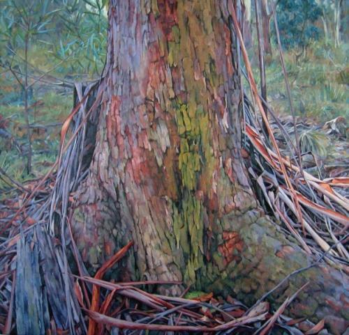 Tree - Popes Glen - oil on linen canvas 106x112 cm 2011