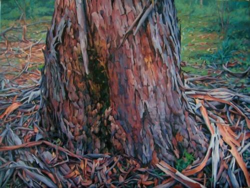 Where a Tree meets the Earth - oil on linen 61x81.5 cm 2011