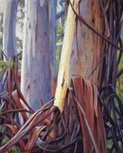 Trunks - oil on canvas 25.5x20cm 2013