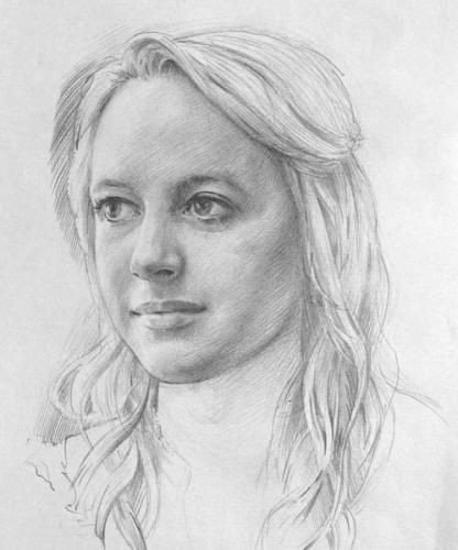 Portrait study 'Tessa' 2014 Pencil on paper 27x18cm