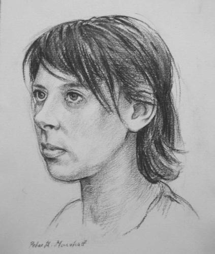 Portrait study  -  charcoal on paper 22x27 cm 2009